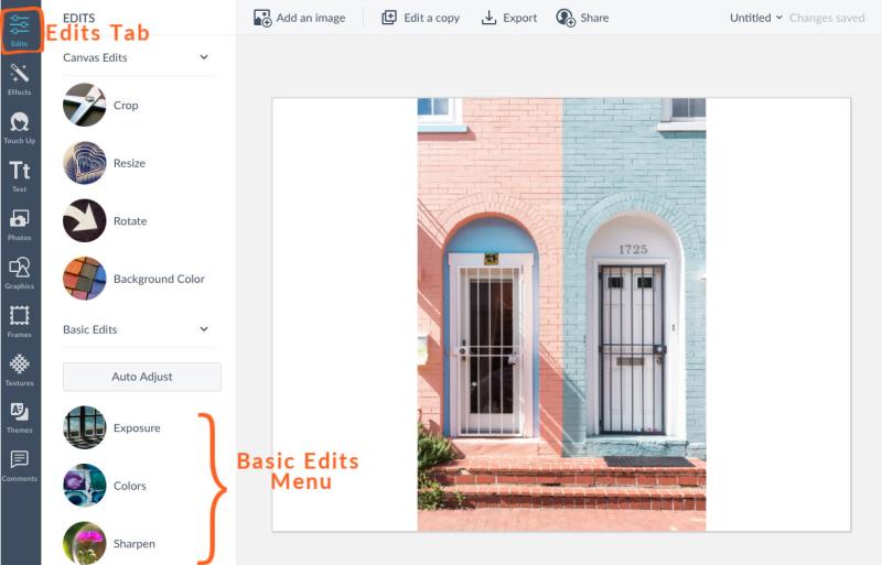 Basic Edits: Exposure, Colors, Sharpen