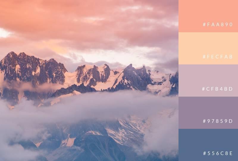 color-palette-mountainous-sunset