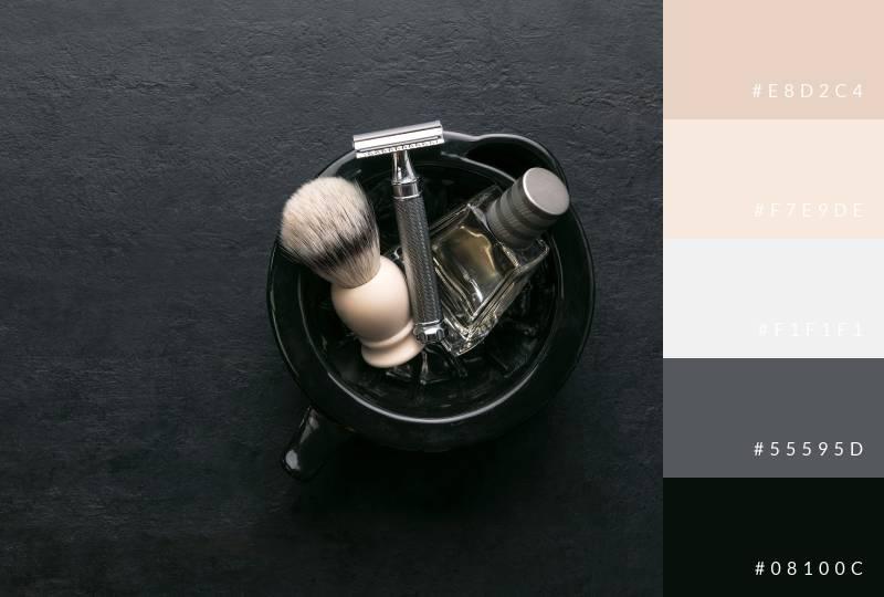 color-palette-shaving-cream