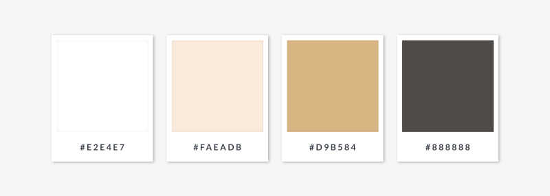 neutral colors white off-white tan and brown