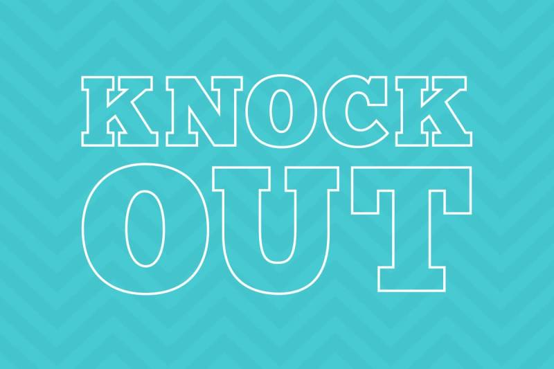 Make your words stand out with text effects, like PicMonkey's Knock Out