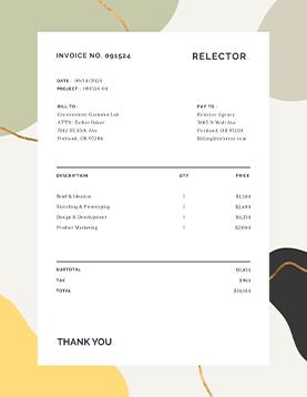 relector-invoice-tempalte