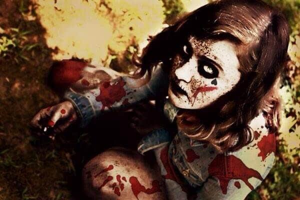 Halloween photo contest: Winner - bloody zombie girl (Scary).