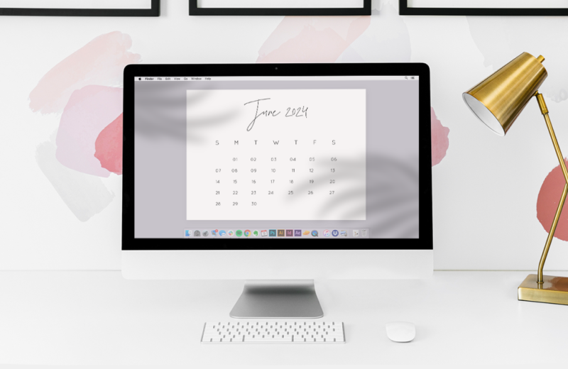 Calendar templates are perfect for creating awesome desktop background images.