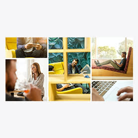Business Collage - Photo Collage LinkedIn Company Cover Template