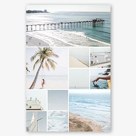 Créateur de collage photo : modèle de collage plage