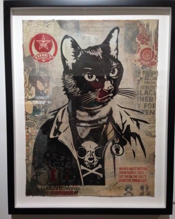 Radical cat print from Cat Art Show LA.