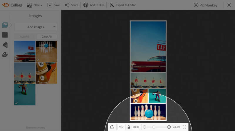 Resize your long Pinterest pins with PicMonkey's collage tool.