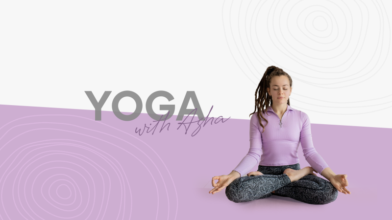Asha's Yoga - YouTube Banner Template