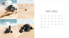 sand dune buggy ATV printable monthly calendar template
