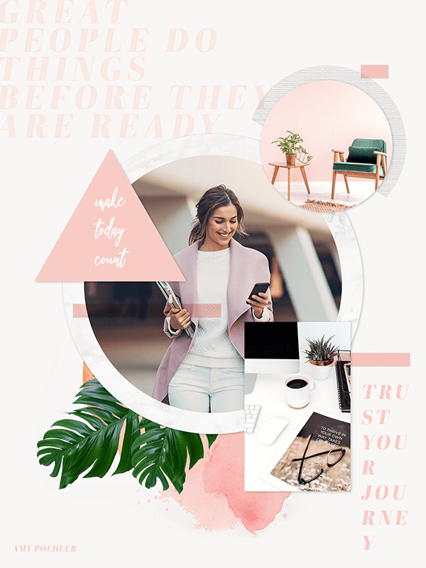how to make a vision board like this one