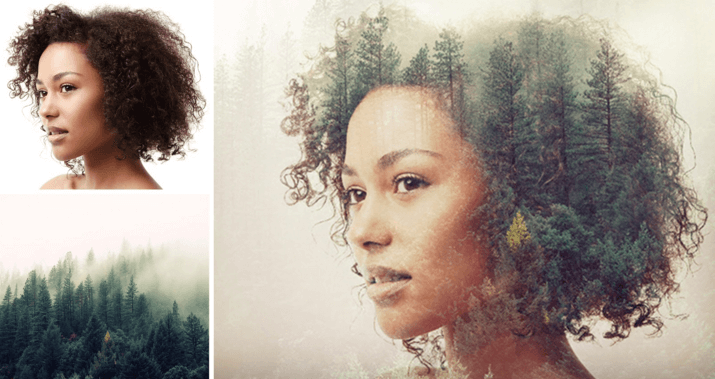 This image shows how Double Exposure in PicMonkey works.