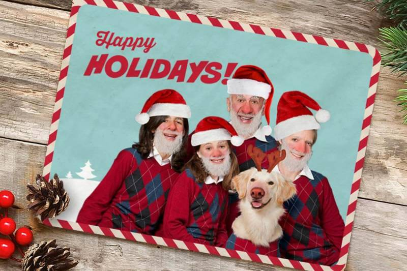 Turn your ho-ho-hilarious images into unforgettable Christmas cards.