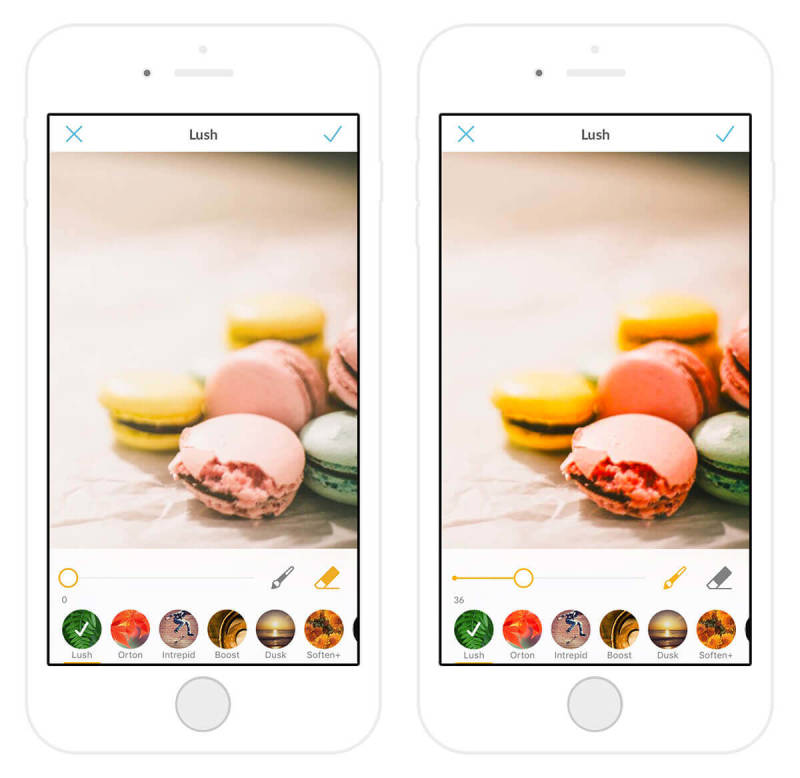 Make your photos of delicious macarons even more beautiful with PicMonkey's new photo effect, Lush.
