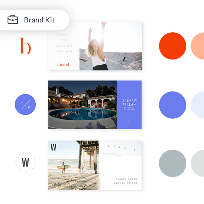 use a brand kit for easy design and to keep your brand looking consistent