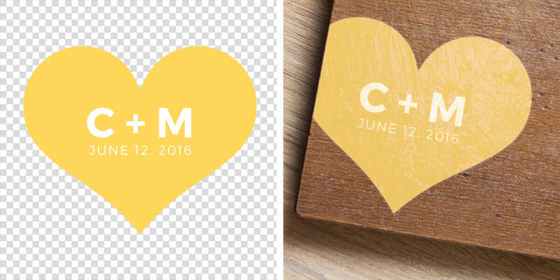 Create a personalized graphic and adhere it to wood. Then, have guests sign it instead of a traditional guest book.