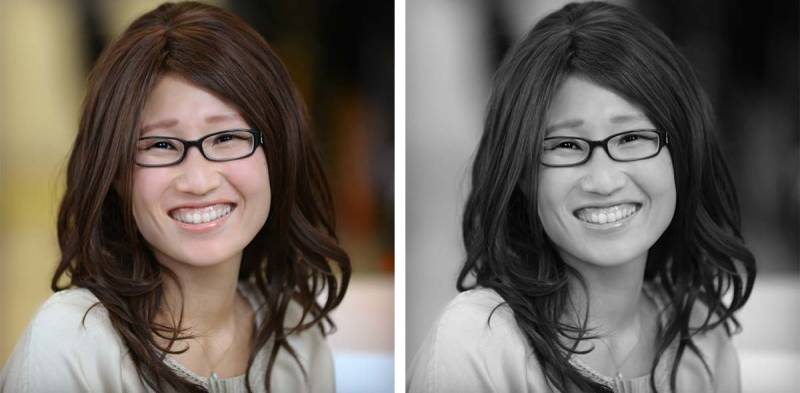 Adding an effect, like black and white or urbane in PicMonkey, can quickly improve the overall look of your headshots.