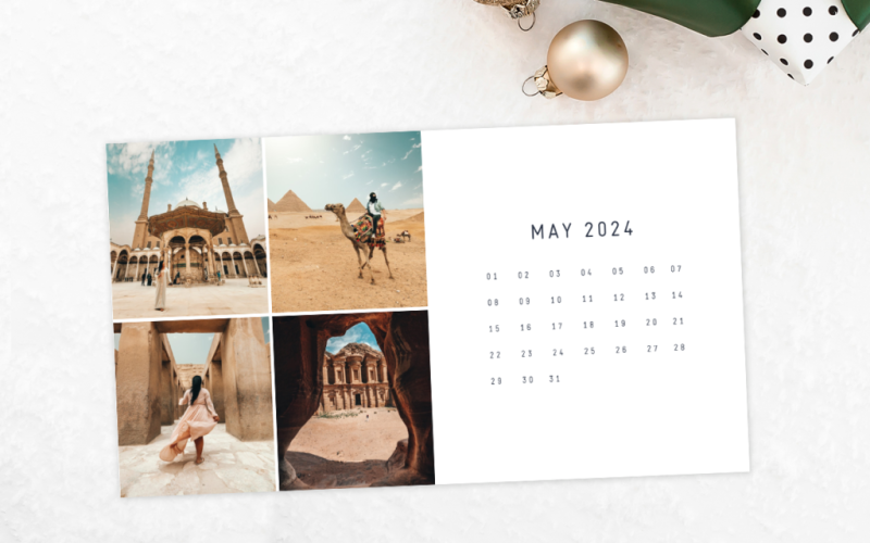 Calendars made with our templates are great for gift giving.