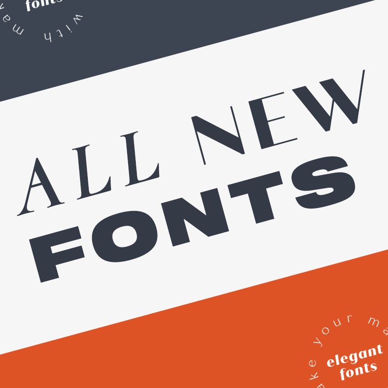 Picmonkey has thousands of unique cool fonts check out the 250 new fonts just added