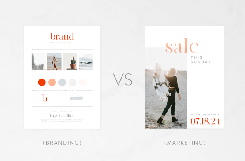 There's a difference between marketing and branding for your business.