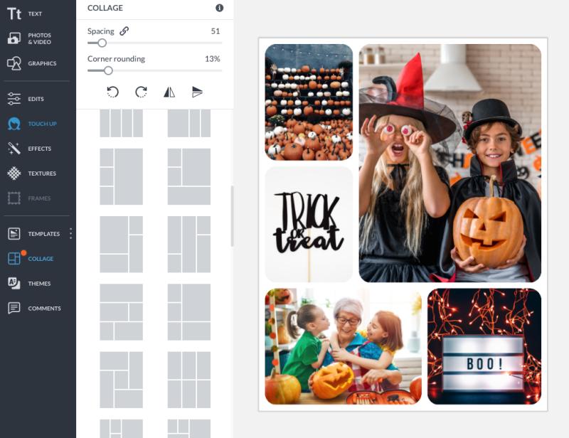 make a halloween photo collage