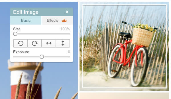 Make basic but crucial edits to individual photos in Collage maker.