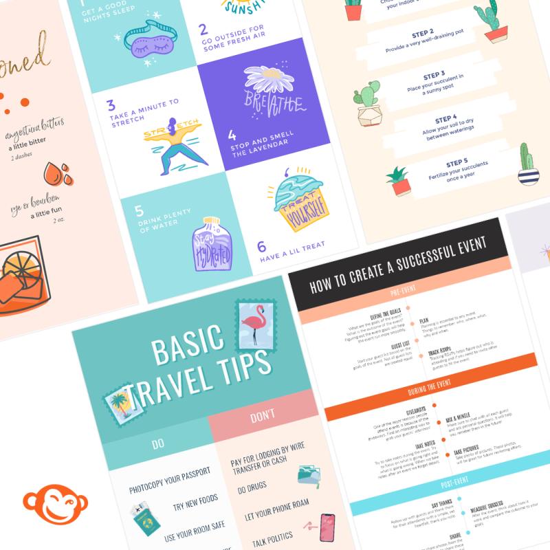 Make infographics in picmonkey