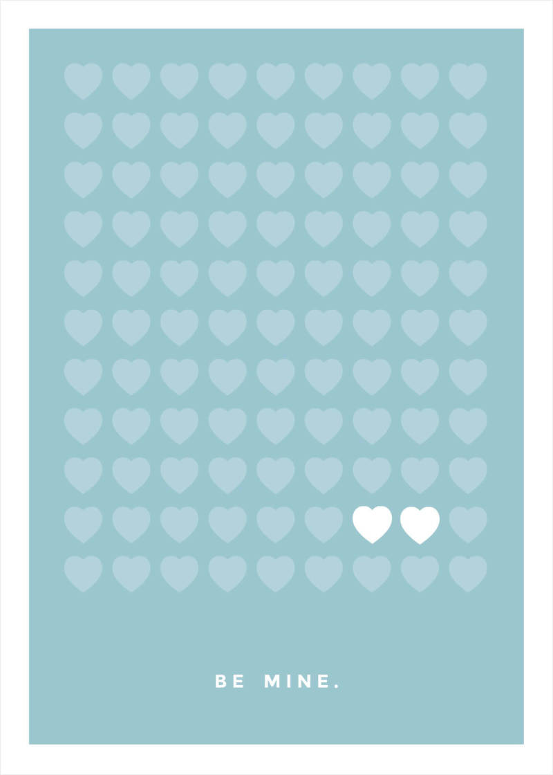 Here's a simple, modern Valentine's Day template with hearts in rows. Add your own Valentine's Day message and you're good to go!