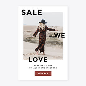 sale we love ad template