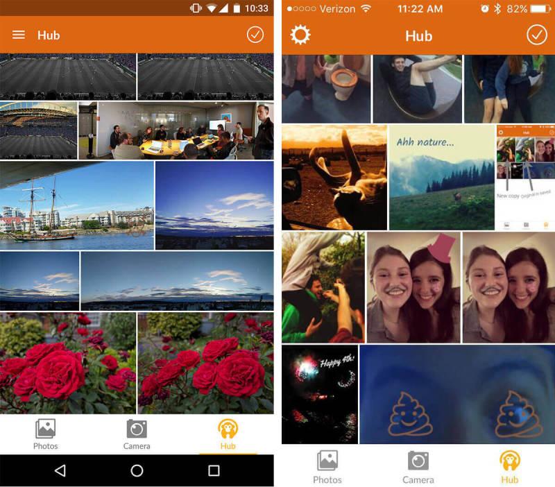 Hub, Android, iOS, abrir Hub, aplicación móvil, Almacenamiento en la nube