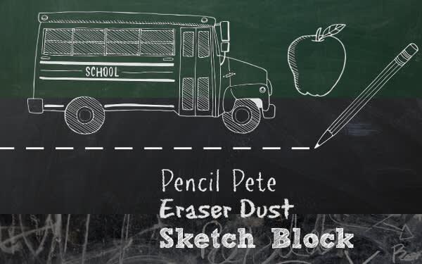 Chalkboard look from School U theme in our photo editor.