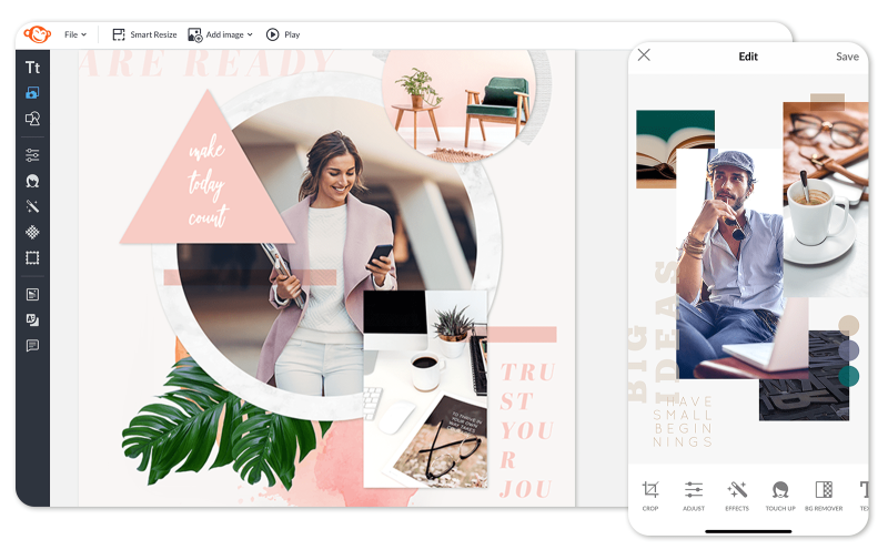 Make a vision board on desktop or mobile
