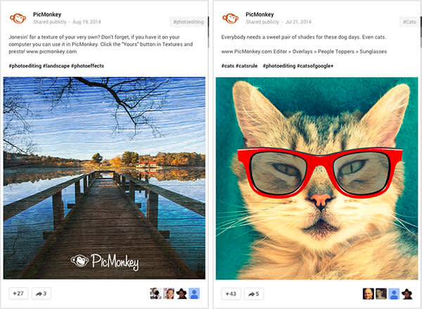 Google Plus tips for brands: Google+, like many social media outlets, is highly visual, so plan your posts accordingly.