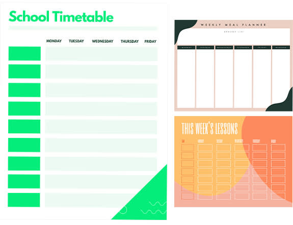 Make your own planner with PicMonkey's easy-to-use planner templates
