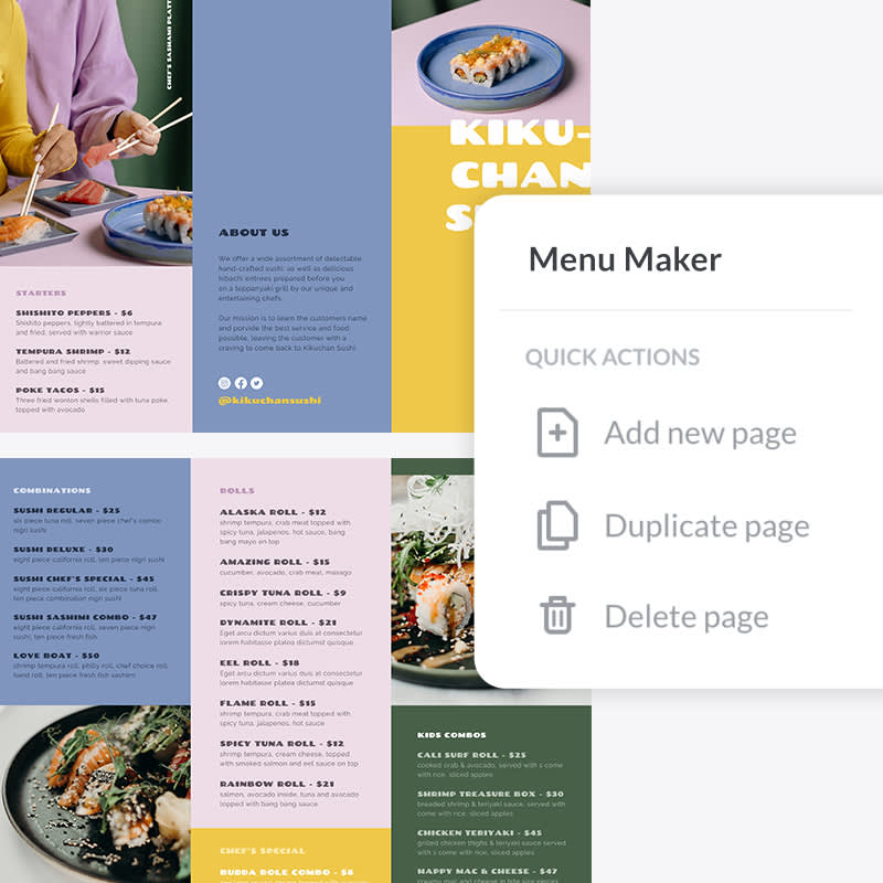 How to use menu templates in PicMonkey