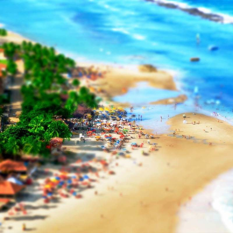 The miniature effect makes this Brazilian beach look super small (and super cool).