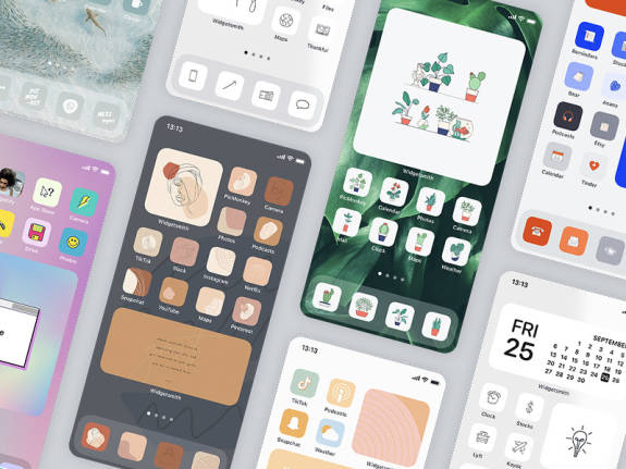 home screens and phone wallpapers tutorial for DIY
