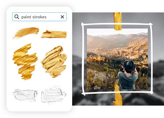 Paint stroke graphics product design
