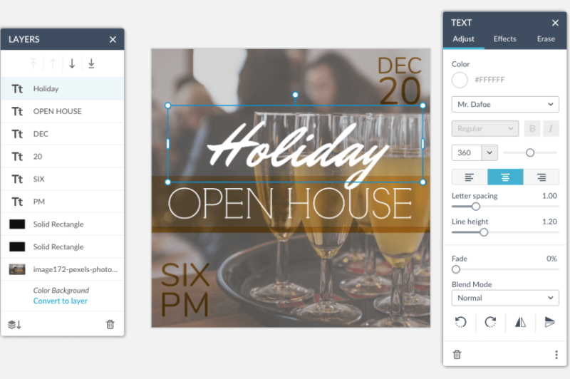 customize a holiday invitation template