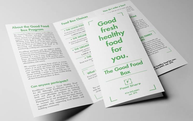 The Good Food Box Brochure Design Example