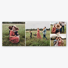Facebook Cover Maker Grassy Collage Template
