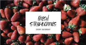 Facebook Cover Maker strawberries Template