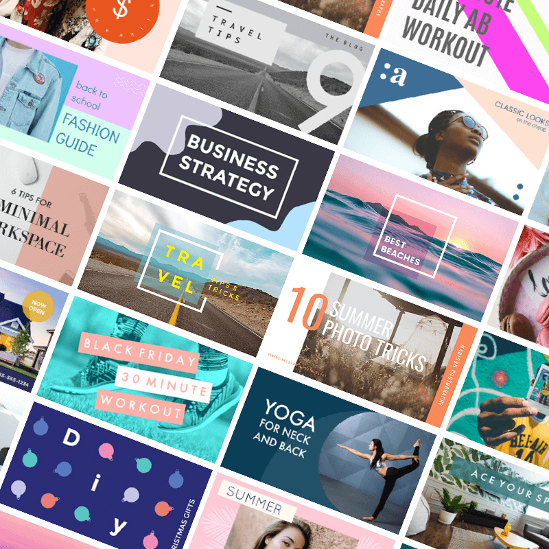 PicMonkey has tons of Youtube thumbnail templates to kickstart your design.
