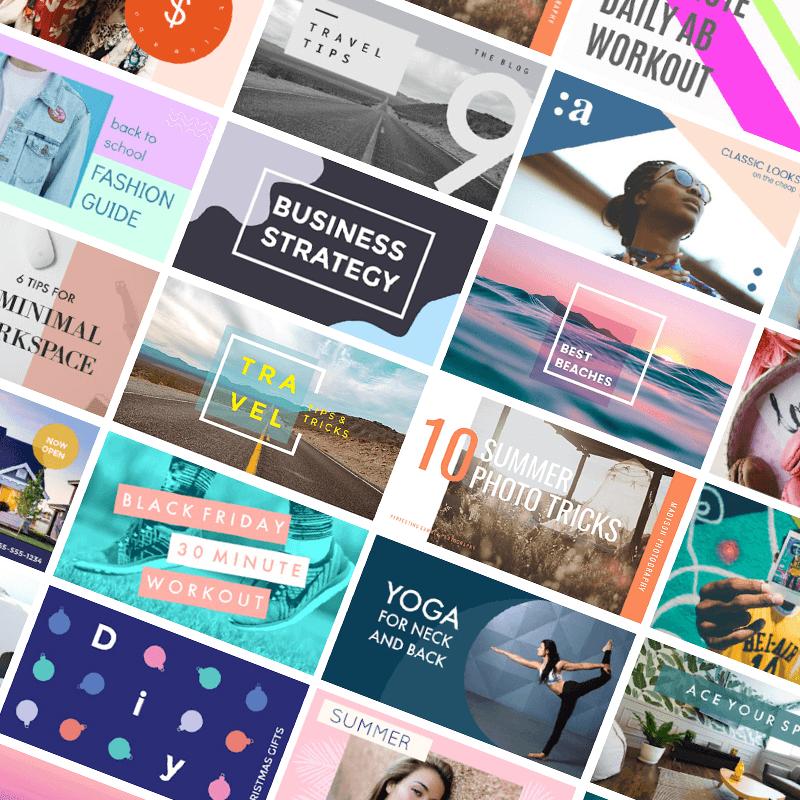 PicMonkey has tons of Youtube thumbnail templates to kickstart your design.