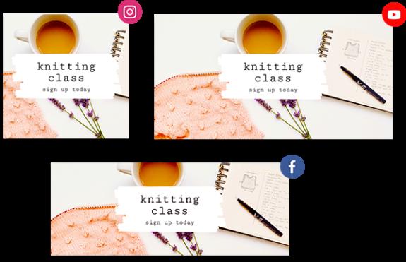 knitting advertisement