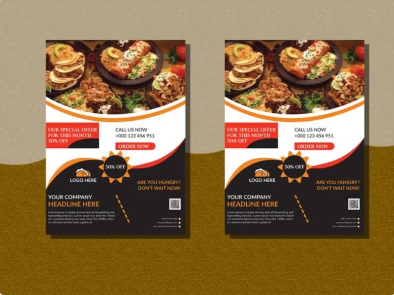 Restaurant Brochure Design Template Example