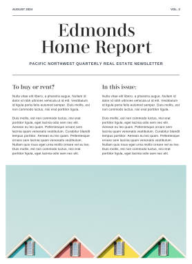 Real estate newsletter template at PicMonkey