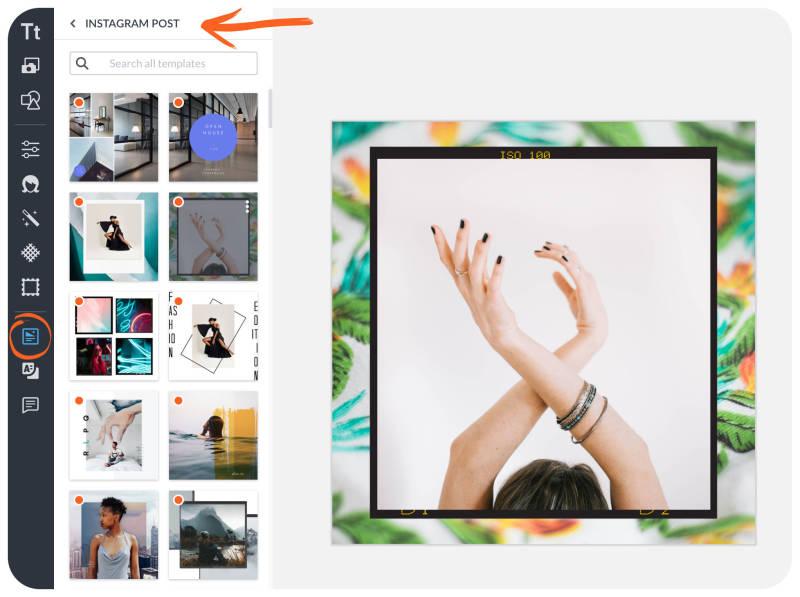 créer des posts Instagram avec picmonkey