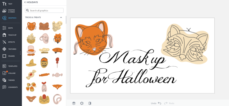 halloween graphics at picmonkey