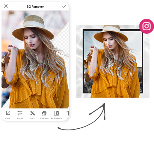 erase photo backgrounds with background remover mobile app from picmonkey